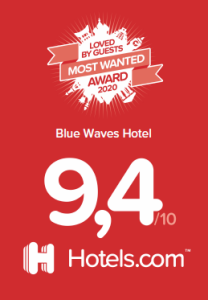blue waves hotel award