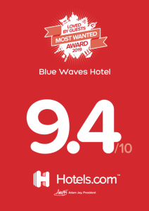 hotels award blue waves santorini